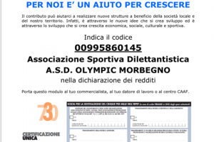 A.S.D. OLYMPIC MORBEGNO /  5 x mille