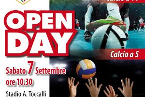 SABATO 7 SETTEMBRE, L'OPEN DAY 2019